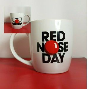 Other - Red Nose Day Coffee Cup White Tea Mug 14 oz
